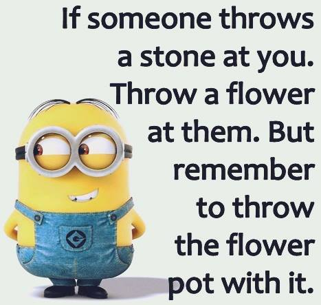 Throw a flower
